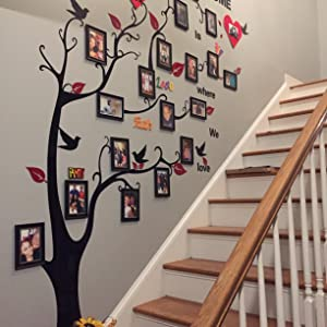 Stair wall decoration