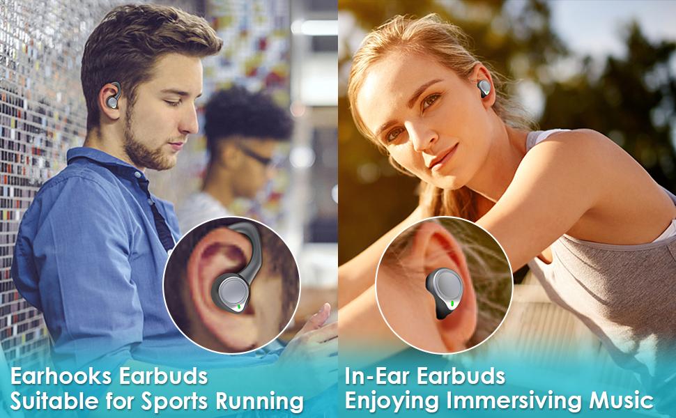 over ear wireless earbuds