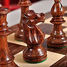 The Club Series Chess Set - Golden Rosewood