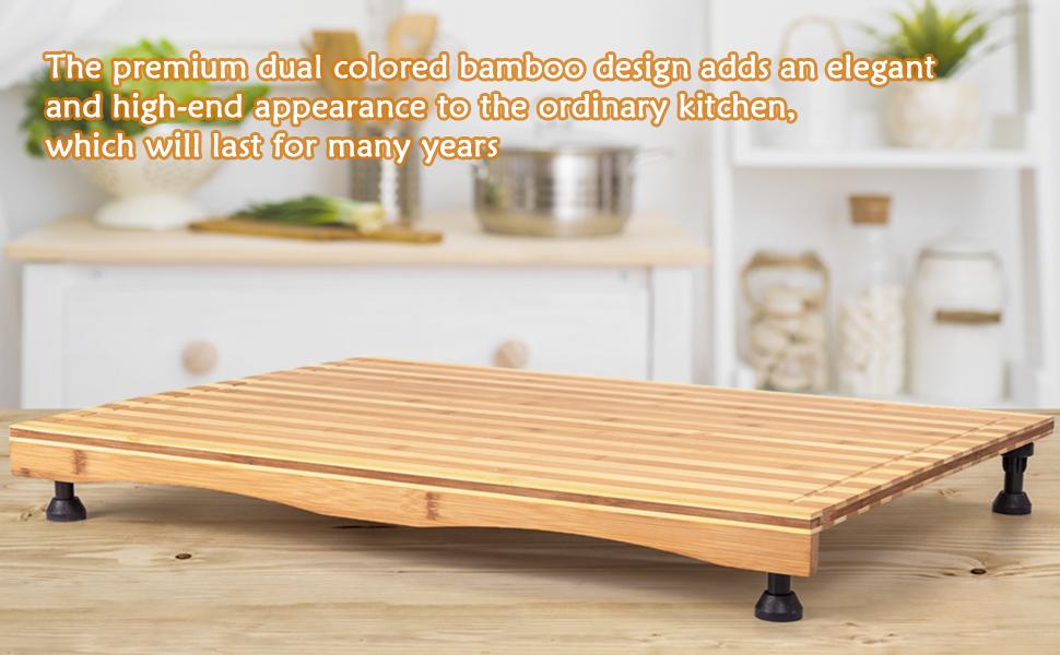 The premium dual colored bamboo design