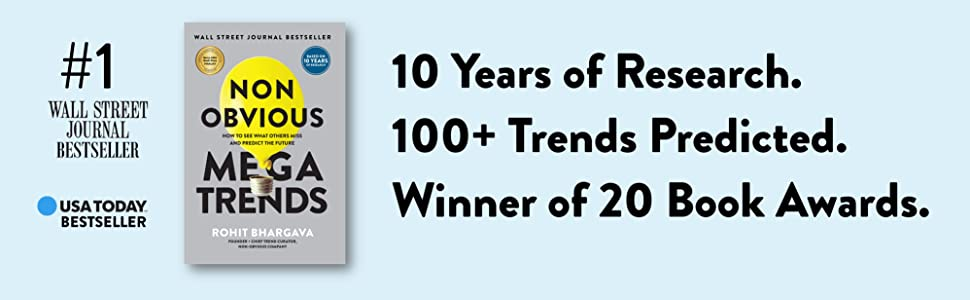 10 years of research, 100+ trends predicted, winner of 20 book awards.