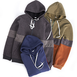 Contrast Color hoodie for men