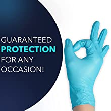 Circlecare Powder-Free Nitrile Disposable Exam Gloves, Industrial Medical Examination