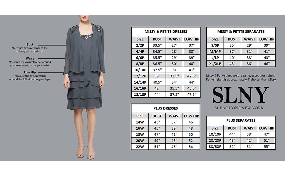SLNY Size Chart