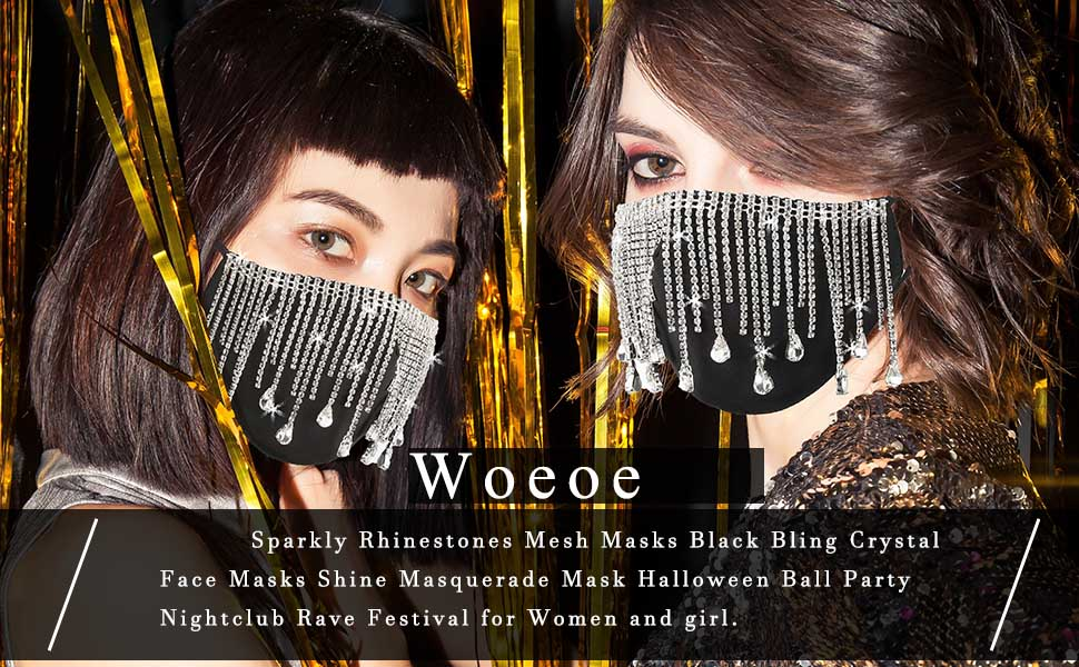 Gold Spider with Crystal Rhinestones Halloween Fashion Face Mask andor Pop Grip