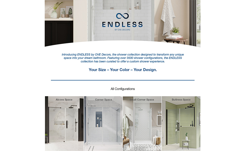 Hinged and Framed Glass Shower Door
