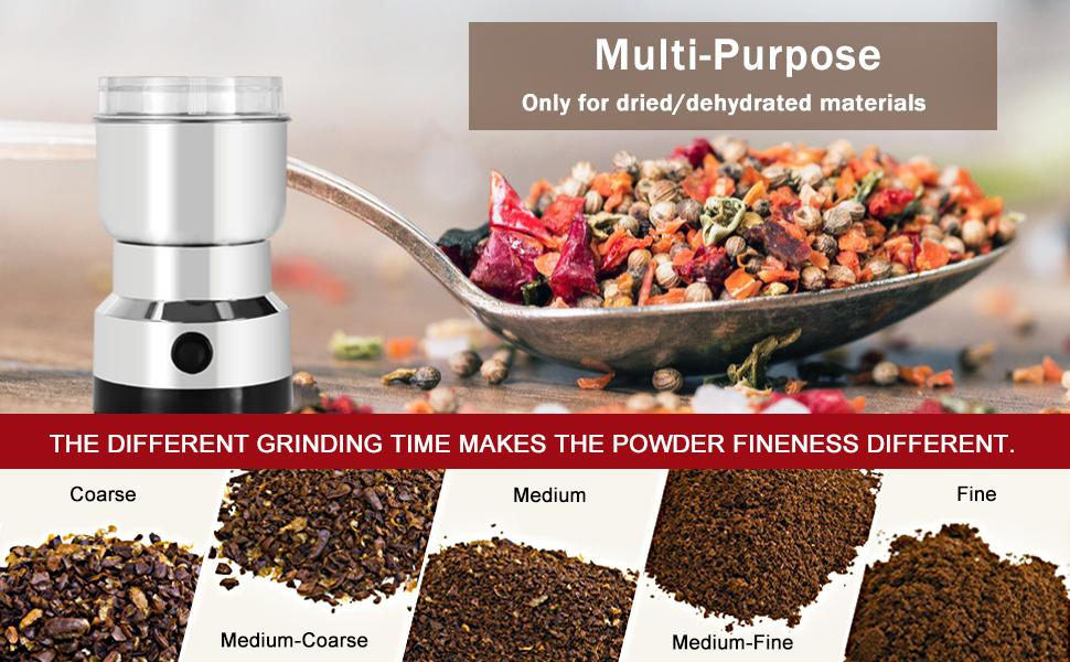 This spice grinder is only suitable for completely dry ingredients.