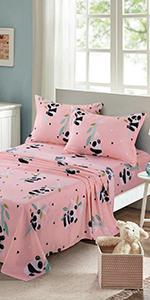 Pink Baby Panda Sheetsamp;amp; amp;amp; Pillowcases