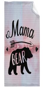 Mama Bear Bright Pink Glitter Super Soft Fleece Flannel Big Blanket