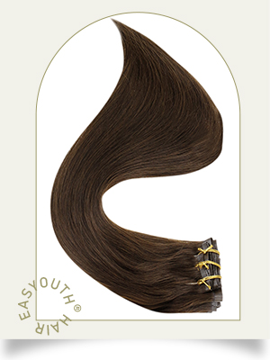 hair extensions clip in pu weft