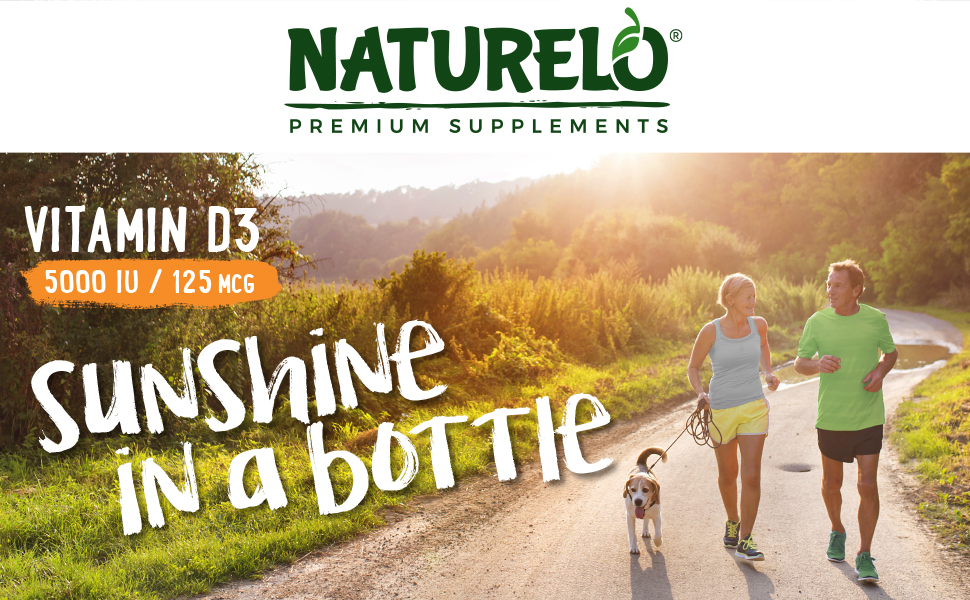 naturelo, vitamin d3, d3 5000, iu