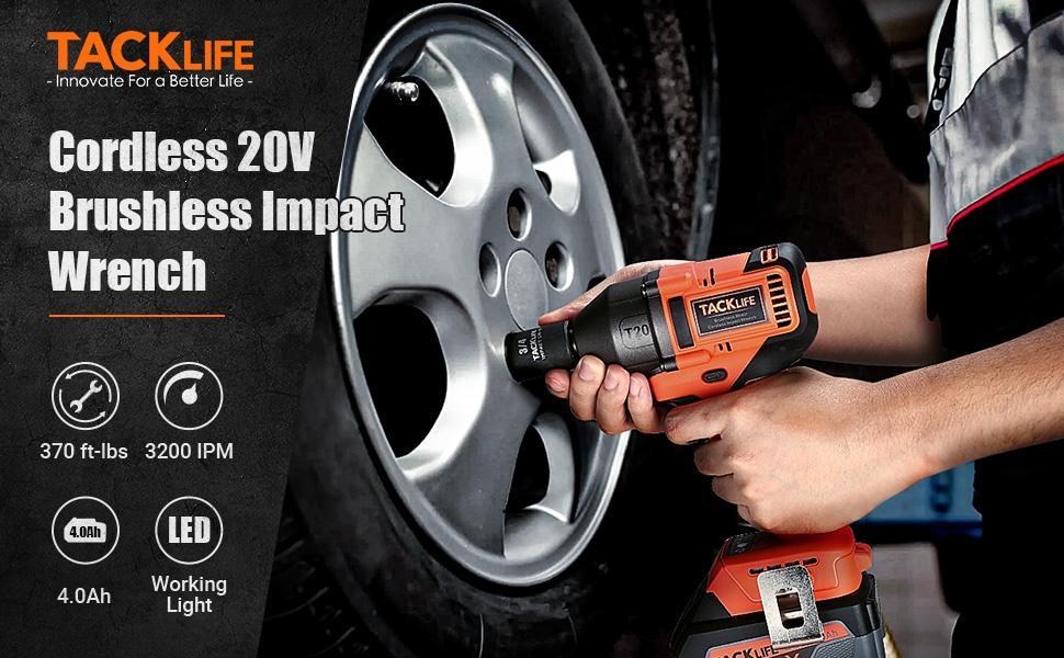 Cordless 20V Brushless Impact Wrench
