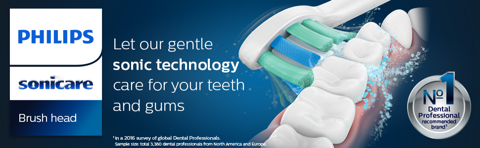Let our gentle sonic technology care for your teeth and gums