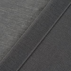grey sheer drapery for window treatment in details