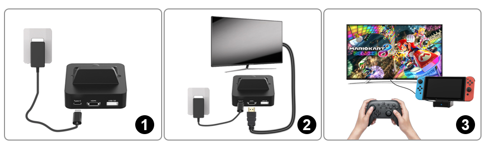 switch tv dock for nintendo switch