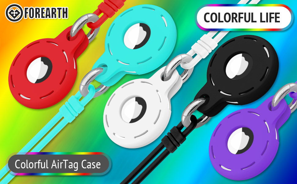 Colorful AirTag Case