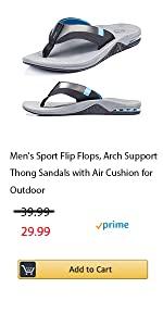 Mens sport flip flop