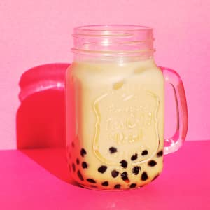 Boba Tea with Pink Background