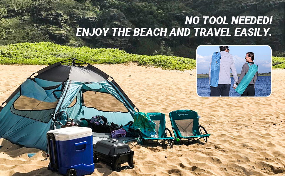 KingCamp Low Seat Beach Chair with Cup Holder