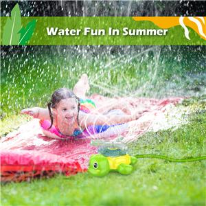 Water Sprinkler for Kids- Outdoor Water Hose Turtle Sprinkler Toy with Wiggle Tubes