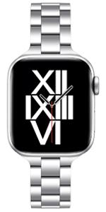 Silver apple watch strap