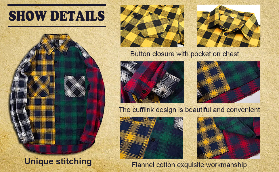 Family Portrait  Family time family matching family pictures Casual Plaid Flannel Button Down Shirt