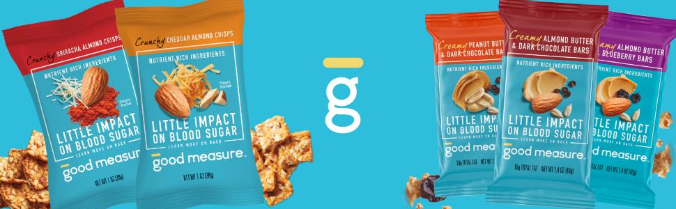 Good Measure Snack Bars - Blood Sugar / Diabetic Friendly - Low-Carb amp; Keto Friendly
