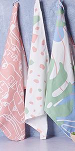 farmhouse decor, kitchen towel, dish cloth, tea towel set, kitchen towel and dish cloth set, towels
