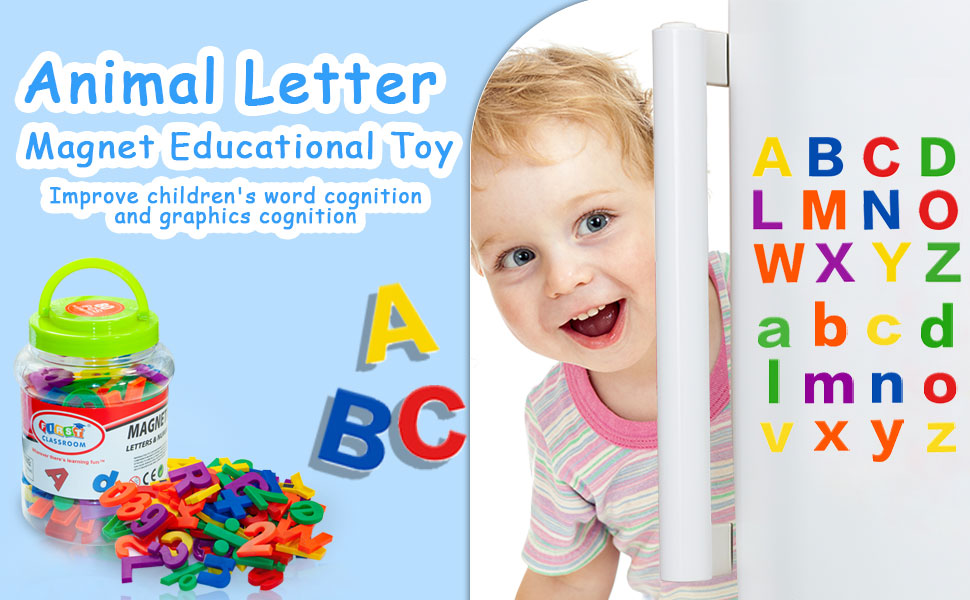 Magnetic letters for learning