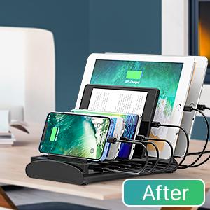 usb charging station for apple samsung