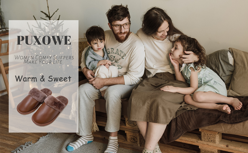 Puxowe:women comfy slippers make your life warm&sweet