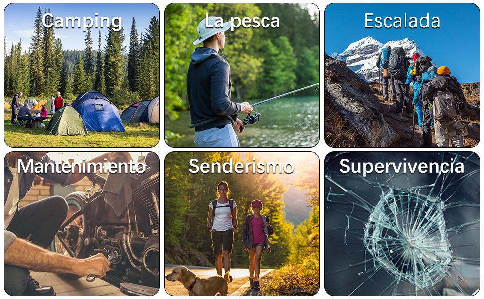 herramientas multiusos para camping