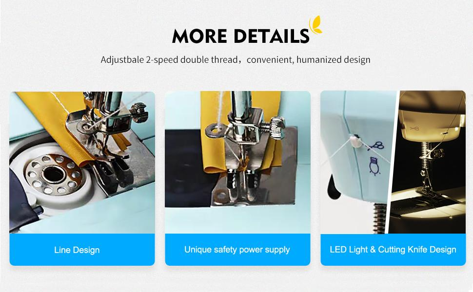 Line Design amp; Unique safety power supply amp; LED Light amp; Cutting Knife Design