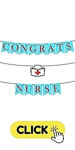 Felt, Blue and Red Congrats Nurse Banner