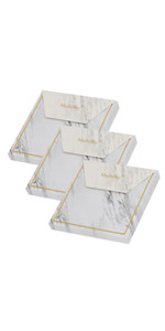 marble gold edge sticky notes pads memo paper