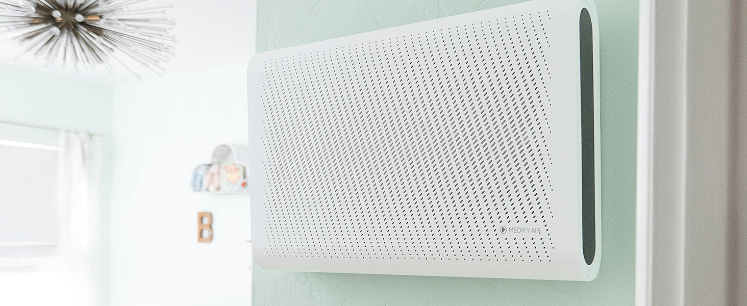 White MA-35 mounted on a wall in baby's room