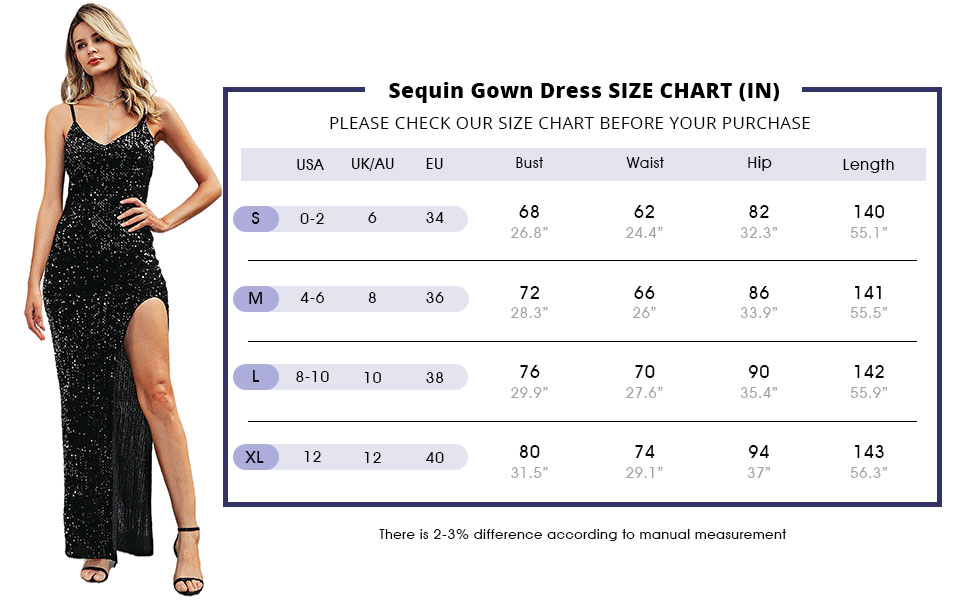 BerryGo Women's Sexy V Neck Bodycon Sequin Gown Evening Dress with Slit