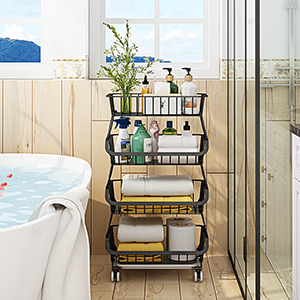 Bathroom storage rack