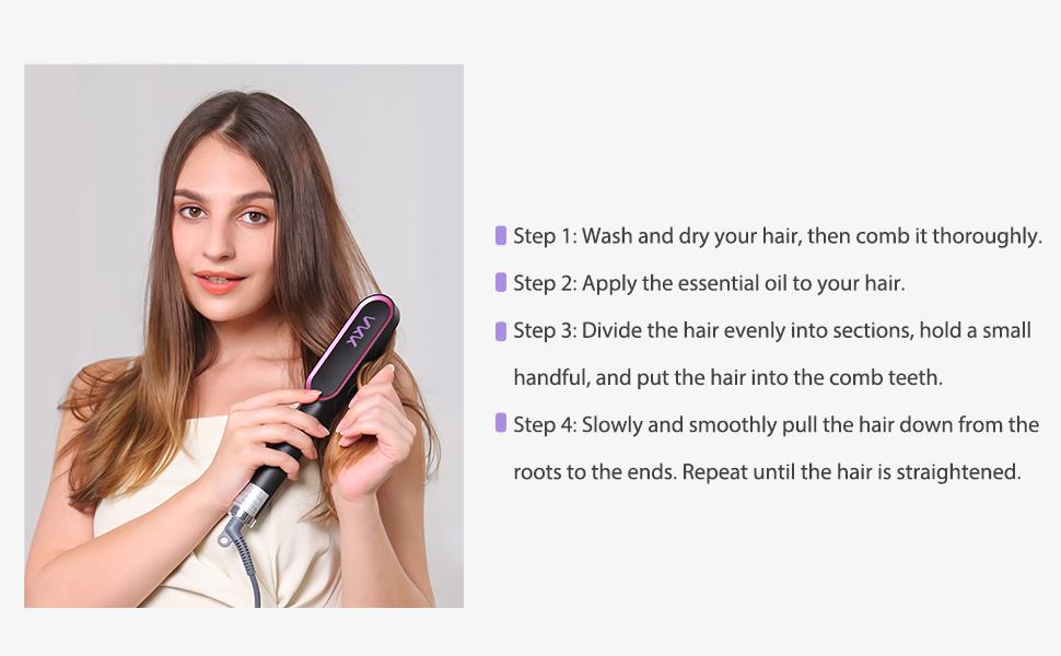 Hair hot comb brush