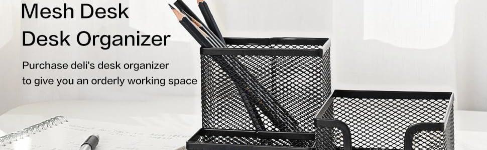 mesh metal desk organizer