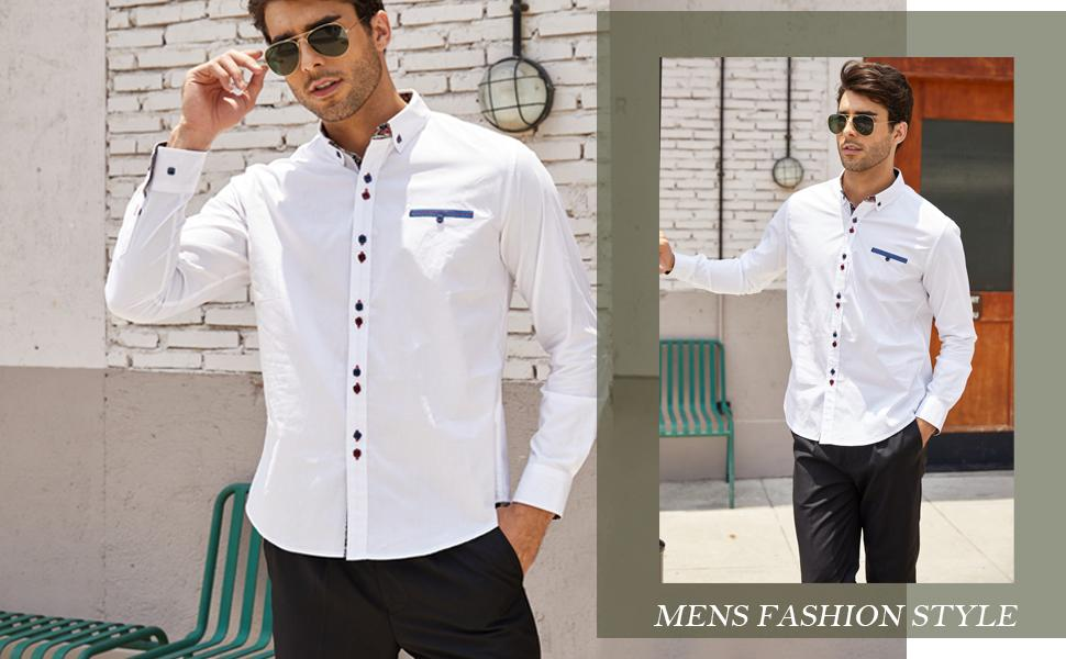 men casual button down shirt