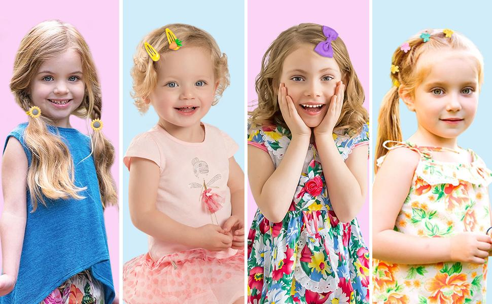 These hair clips are great for daily use, traveling, shower, parties, sports and school.
