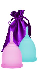 Ecoblossom Reusable Menstrual Disc - Set of 2 Menstrual Cup - Soft Period Disc for Women