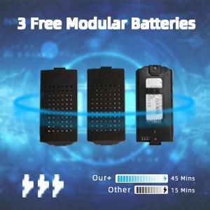 3 Modular Batteries-45 Mins