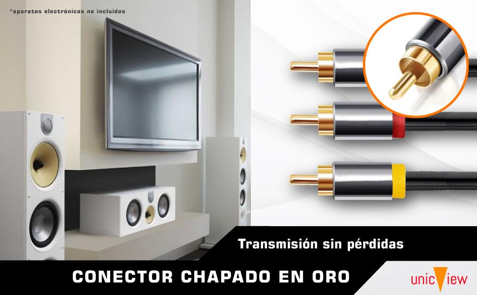 cable de rca para amplificador, cable rca audio y video, cable rca 3 metros