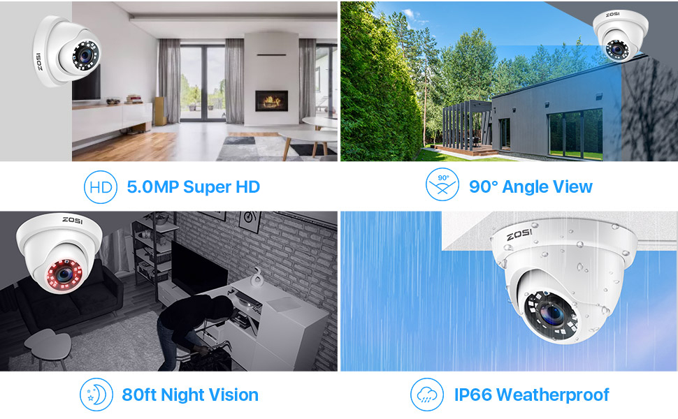 8GS-418W4-10 Super HD 5.0MP security cameras system