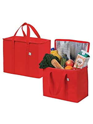 VENO Insulated reusable grocery bags, thermal, hot cold, heavy duty, food delivery, food transport
