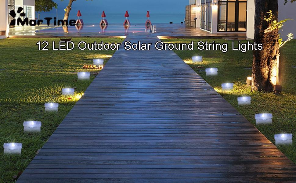 12 LED Outdoor Solar Ground String Lights