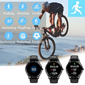 IP68 waterproof fitness tracker has 9 kinds of sport modes, freely and safely to swim or wash hands