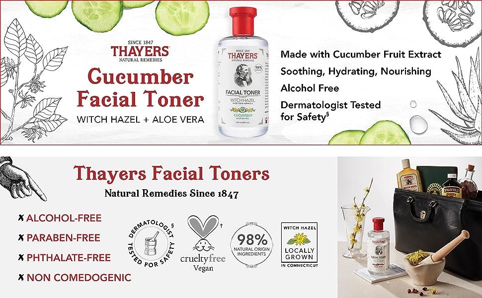 Cucumber Witch Hazel Facial Toner